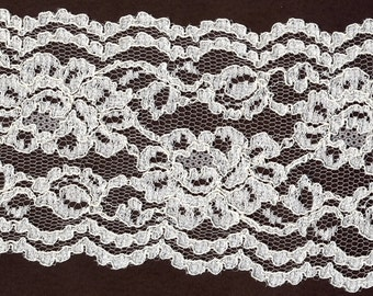 6 inch Ivory Bridal galoon lace  trim   10 yds