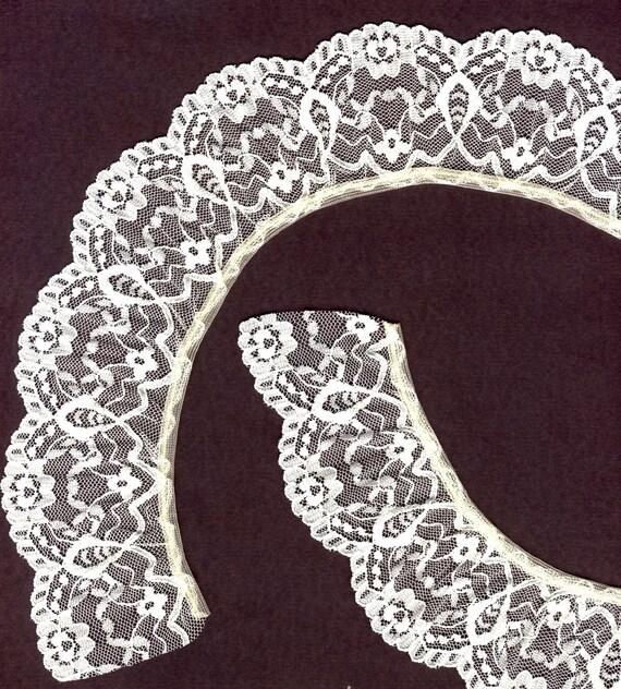 2 inch wide Cream gathered lace trim 20 yds (X4043)