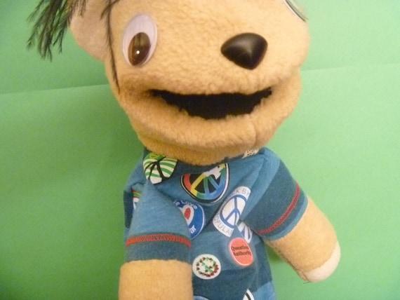 Peace Emo Boy Hand Puppet Bear