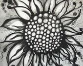 Cast Iron Sunflower - Print 8.5 x 8.5 inches