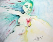 Leading With Her Heart - 8.5 x 11 inch matted giclee print