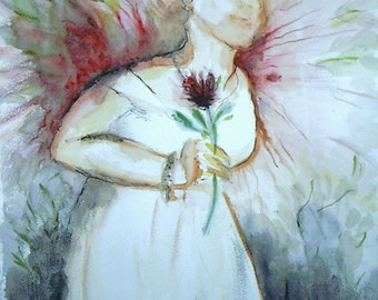 Angel Adrienne in Her Wedding Gown