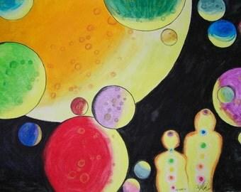 God Dream Two - Original Watercolor Painting