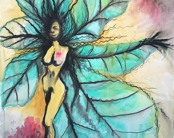 Tree Angel Two - 8.5 x 11 matted giclee print