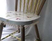 ON HOLD for Amy  Painted Windsor Chair, Whimsical Design, Desk Chair, Decorative Chair