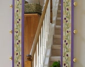 Mirror - Hand Painted - Gold and Lavender