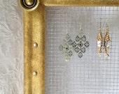 Hanging Jewelry Screen, Frame Holder Organizer