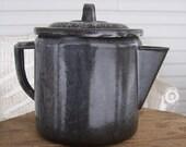 Gray Granite Coffee Pot Vintage