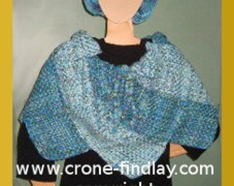 PDF Pattern for Capelet (Caplet) Woven on the Potholder loom