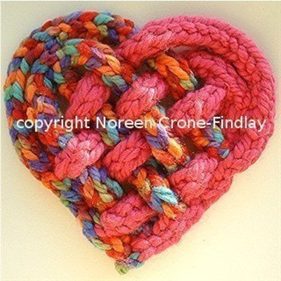 Woven Spool knitted Heart designed by Noreen Crone-Findlay (c)