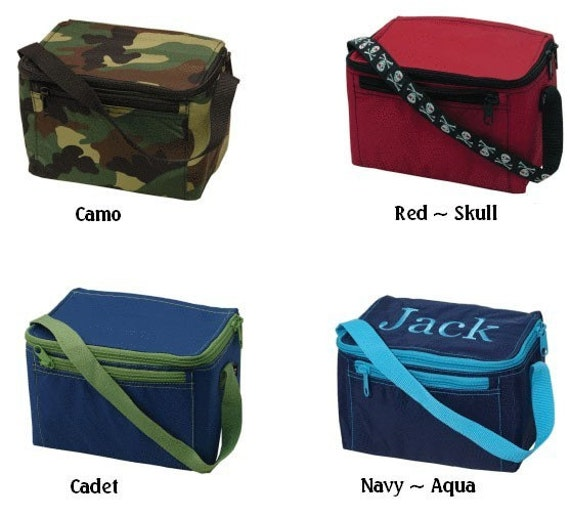 Monogrammed & Personalized Lunchbox Boys Insulated Lunchbags and Nylon Lunch Totes for Back to School