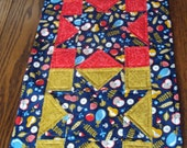 SALE - Quilted Star Kitchen or Dining Room Table Runner - Reg 29.99