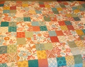Patchwork Queen Quilt - Bed Quilt - Throw - Blanket