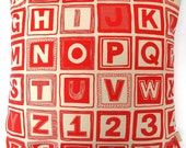 ABC Alphabet 123 Number Block Pillow Cover