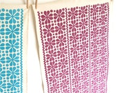 Set of 2 Tea Towels in Parade, choice of colours