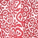 Moroccan Tile Tea Towel Cherry Red on Organic Cotton