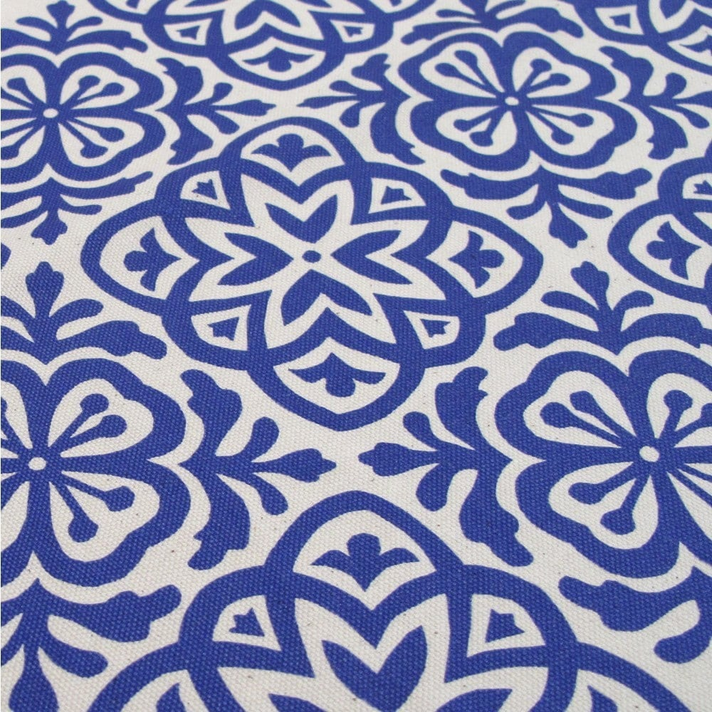 Moroccan tile hand screen printed fabric fat quarter for Fabric printing