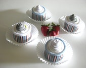 Diaper Cupcakes,  Baby Shower Gifts, Boy Cupcakes, Set of 4