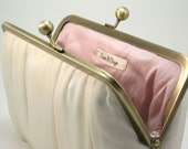 A Perfect Wedding - Translucent Ivory Pleats Clutch