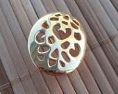 Vintage Little Egg Shaped Oval Brooch Pin