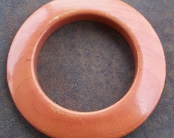 Vintage Big Round Wooden Bangle
