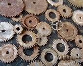 Vintage Antique Watch parts gears- Steampunk - Scrapbooking H88