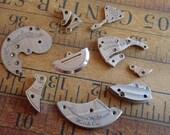 Vintage metal pocket Watch plates  - Steampunk - Scrapbooking e12
