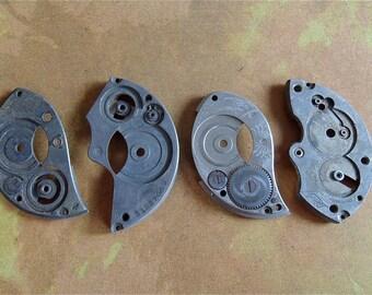 Vintage Antique metal pocket Watch parts - Steampunk - Scrapbooking A85
