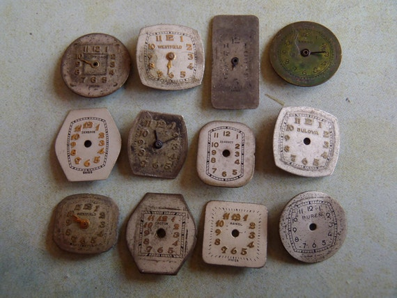 Vintage Antique Watch  Assortment Faces - Steampunk - Scrapbooking C78