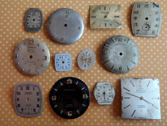 Vintage Antique Watch  Assortment Faces - Steampunk - Scrapbooking C1