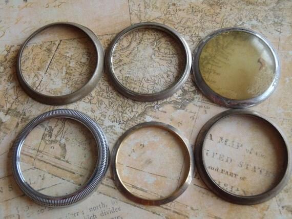 Vintage  pocket Watch case bezels - Steampunk - Scrapbooking G6