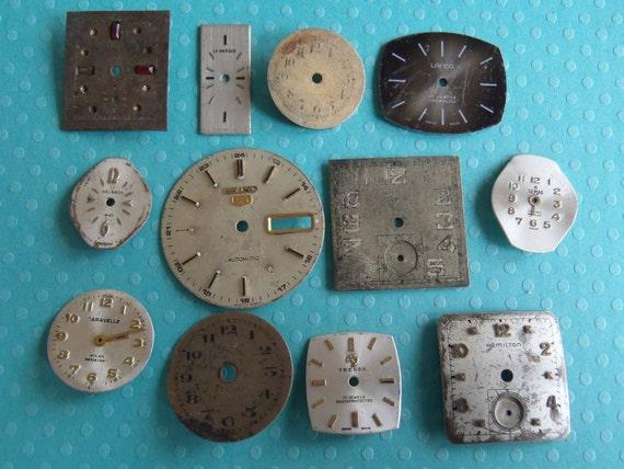 Vintage Antique Watch  Assortment Faces - Steampunk - Scrapbooking p87