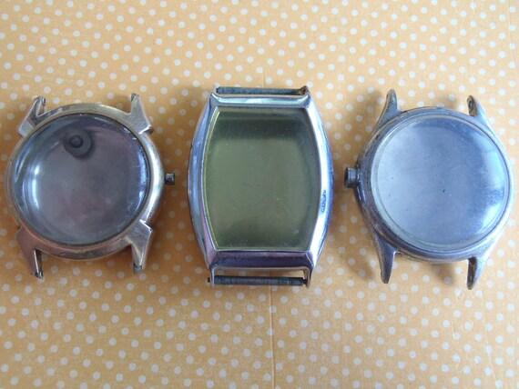 Vintage  Watch parts - Cases -  Steampunk - Scrapbooking  s21