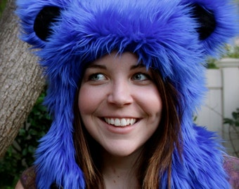 Blue Grateful Dead Bear Hat