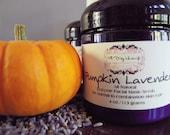 Pumpkin Lavender Face Mask/Scrub. All Natural ingredients 4 oz.