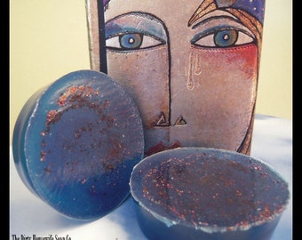 Maine Gypsy Blueberry . Olive oil soap. Blueberries and Vetiver 100% essential oil
