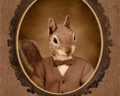 5x7 inch Hot Digital Dog Squirrel Twin Earl