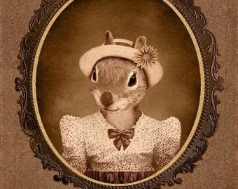 8x10 inch Hot Digital Dog Squirrel Twin Pearl