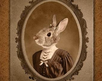 8x10 inch Hot DigitalDog Little Bunny Girl Juliet