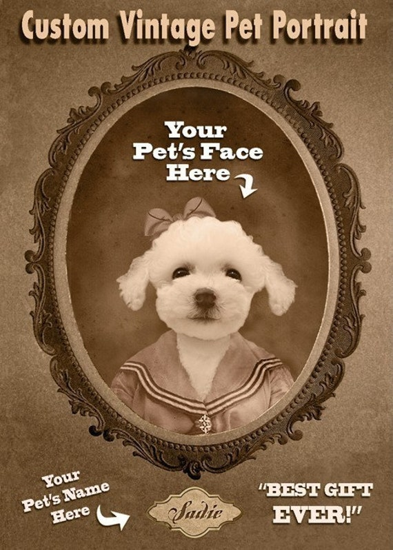 Custom Vintage Image of Your Pet