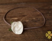 ISLA Baby Newborn Headband. Cream . Buy 3 Get 1 Free. newborn photography prop headband . tiny