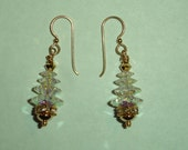 Large Swarovski Crystal X-Mas Tree Earrings  LSCCTE