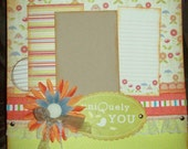 Premade 12x12 1 Page Layout - HandMade