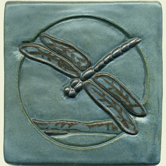 Craftsman Style 6 Dragonfly Tile
