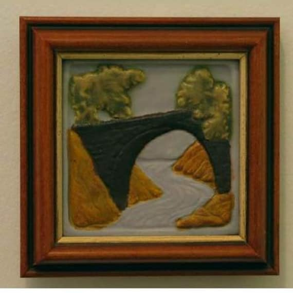 Craftsman style Bridge Tile in Frame