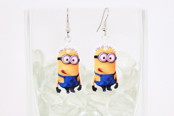 Despicable Me Minion Dangle Earrings V2 By