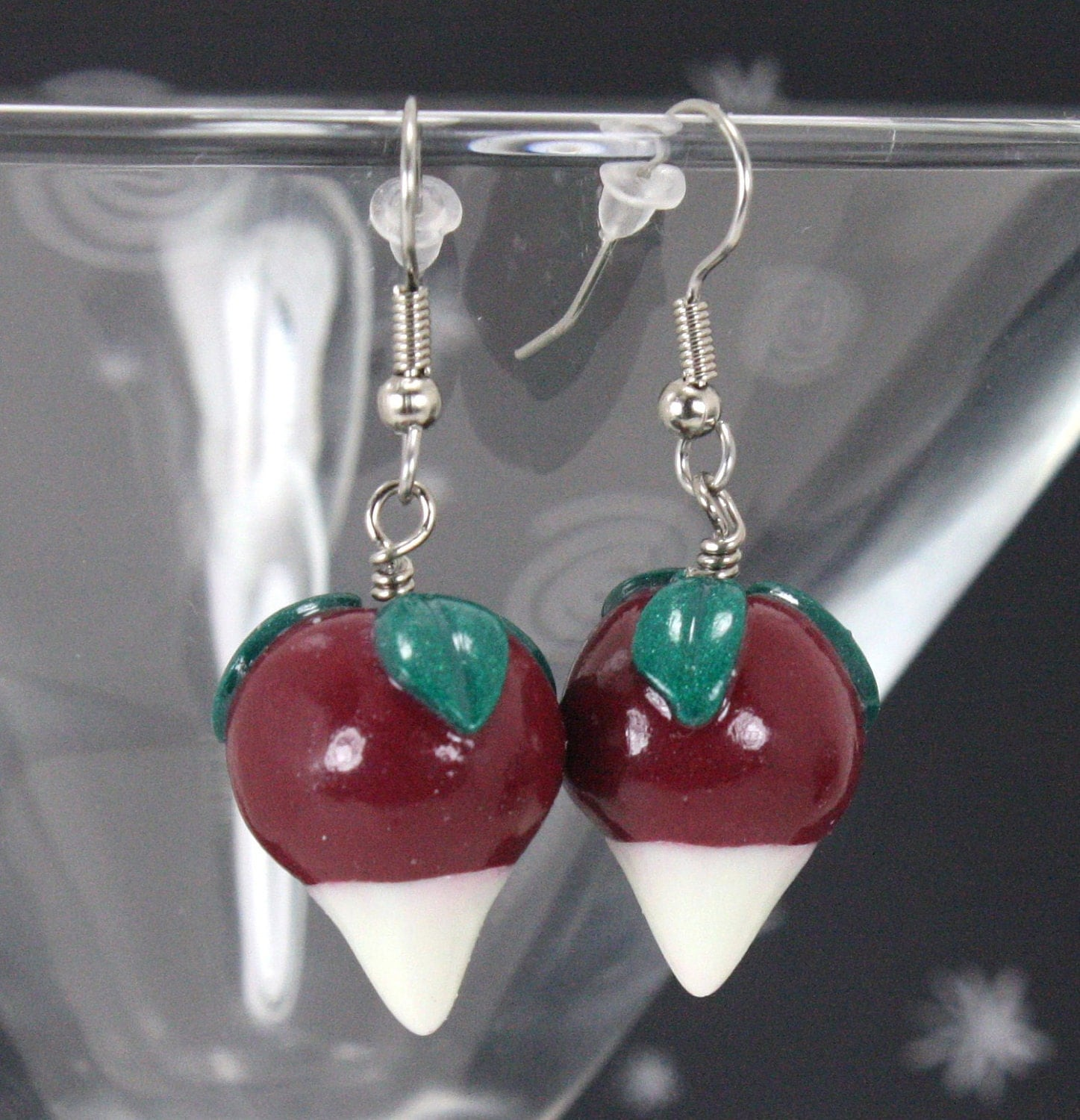 radish earrings radish earrings dirigible plum earrings glow in the 9967