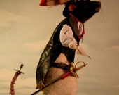 Gaslight Steampunk Victorian Romantic Life Size Rat OOAK Artist Needle felt Sculpture by Stevi T.