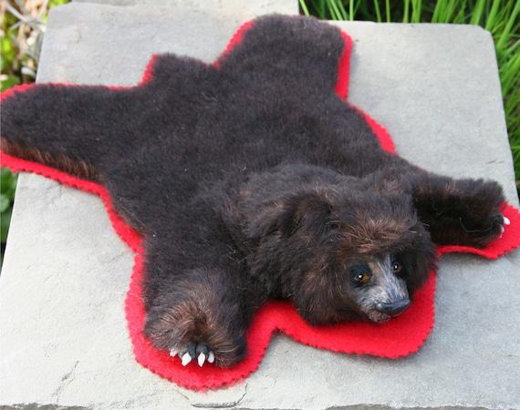 Artist Bear Skin Rug Alpaca plush Sculpt head and Paws