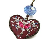 iceflower heart - pendant